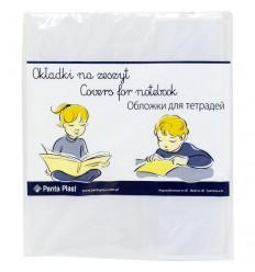 Набор обложек для тетрадей и дневников Panta Plast А5 210х348мм, 95мкм, прозрачные, 5шт
