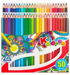 Карандаши цветные трехгранные Kores Kolores, 50 цветов