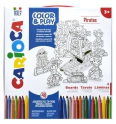 Набор для рисования CARIOCA COLOR&PLAY 42847, Pirates, 52 предмета