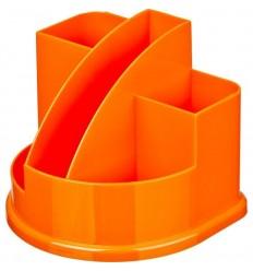 Подставка-стакан для канцелярских мелочей, ручек Attache Fantasy, 5 отделений, оранжевая