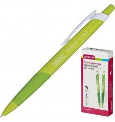 Шариковая ручка автоматическая Attache Sun Flower 0,5 мм, зеленый корпус, синяя