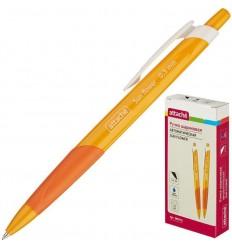 Шариковая ручка автоматическая Attache Sun Flower 0,5 мм, оранжевый корпус, синяя