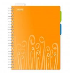 Бизнес-тетрадь клетка Attache Fantasy оранжевая А4 140 листов, 2 разделителя, спираль