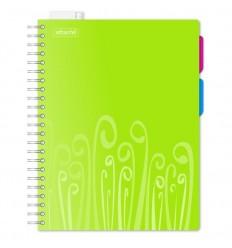 Бизнес-тетрадь клетка Attache Fantasy салатовая А4 140 листов, 2 разделителя, спираль