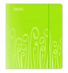 Бизнес-тетрадь на кольцах клетка Attache Fantasy салатовая А5 (165х205 мм), 120 листов, 2 разделителя, резинка
