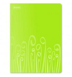 Папка-скоросшиватель с пружинным механизмом Attache Fantasy пластиковая А4 до 120 листов, салатовая