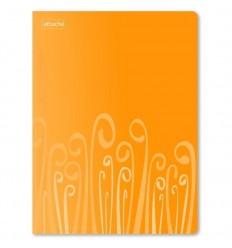 Папка-скоросшиватель с пружинным механизмом Attache Fantasy пластиковая А4 до 120 листов, оранжевая
