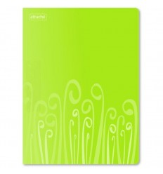 Папка с прижимом Attache Fantasy пластиковая А4 до 120 листов, салатовая