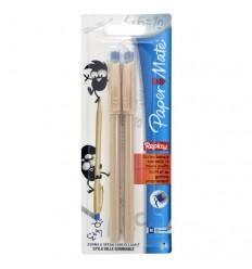 Ручка шариковая стирающаяся Paper Mate Replay, 1мм, Цвет: Синий, 2шт в блистере