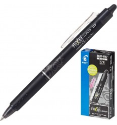 Автоматическая гелевая ручка стирающаяся PILOT Frixion Clicker BLRT-FR7, 0,4мм, Цвет: Черный