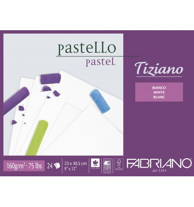 Альбом для пастели Fabriano Tiziano 30,5х41см, 160гр. 24л., бумага белая, Склейка