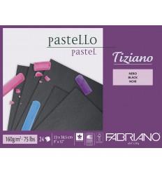 Альбом для пастели Fabriano Tiziano 23x30,5см, 160гр. 24л., бумага черная, Склейка