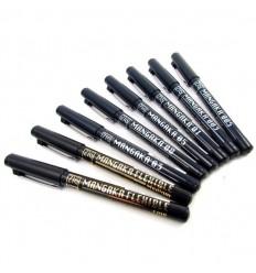 Набор ручек капиллярных ZIG Mangaka, 8 шт, перья: (0.3, 0.05, 0.1, 0.3, 0.5, 0.8мм, кисть, тонкое) черные