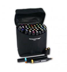 Набор спиртовых маркеров Potentate Bag Set 48 цветов (alcohol based)