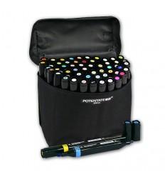 Набор спиртовых маркеров Potentate Bag Set 60 цветов (alcohol based)