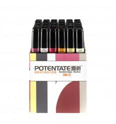 Набор спиртовых маркеров Potentate Box Set 36 цветов (alcohol based)