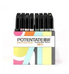 Набор спиртовых маркеров Potentate Box Set 48 цветов (alcohol based)