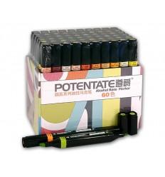 Набор спиртовых маркеров Potentate Box Set 60 цветов (alcohol based)