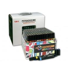 Набор спиртовых маркеров Potentate Box Set 120 цветов (alcohol based)