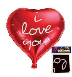 Шар фольгированный Сердце I love you, 51 х 47 см, 1шт