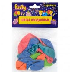 Шары воздушные С Днем Рождения d-25см, разноцветные, 10шт