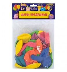 Шары воздушные С Днем Рождения d-25см, разноцветные, 50шт