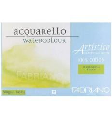 Альбом для акварели Fabriano Artistico Traditional White Torchon 12,5x18см, 200гр., 30л., крупное зерно, склейка по 4-м сторонам