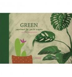 Альбом для рисования пастелью Kroyter GREEN 7538, А4 10л., 760 гр, Бумага Зеленая, Склейка