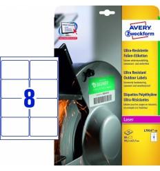 Этикетки суперпрочные пленочные белые Avery Zweckform 99,1x67,7мм, А4, 10 листов, 80 этикеток, L7914-10