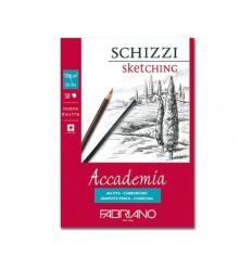 Альбом для зарисовок Fabriano Accademia  14,8x21см, 120гр., 50л., Бумага мелкозернистая, склейка