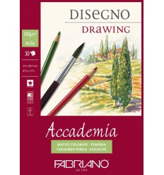 Альбом для зарисовок Fabriano Accademia  14,8x21см, 200гр., 30л., Бумага мелкозернистая, склейка
