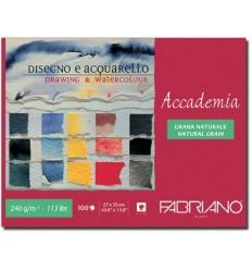 Альбом для зарисовок Fabriano Accademia  35x27см, 240гр., 100л., Бумага мелкозернистая, склейка