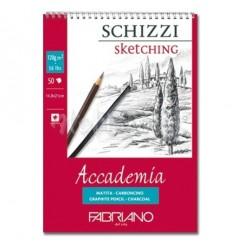 Альбом для зарисовок Fabriano Accademia  14,8x21см, 120гр., 50л., Бумага мелкозернистая, спираль