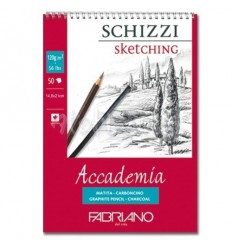 Альбом для зарисовок Fabriano Accademia  29,7x42см, 120гр., 50л., Бумага мелкозернистая, спираль