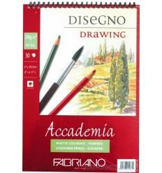 Альбом для зарисовок Fabriano Accademia  29,7x42см, 200гр., 50л., Бумага мелкозернистая, спираль
