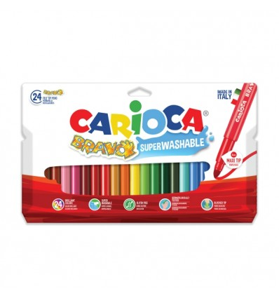 Набор фломастеров Carioca BRAVO MAXI 42763, 24 цвета