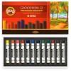 Масляная пастель KOH-I-NOOR GIOCONDA OIL PASTELS 8352, L75мм, d10мм, 12 цветов