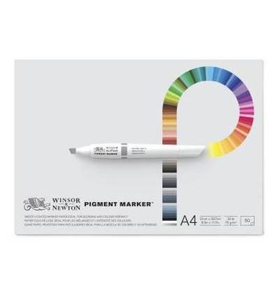Альбом для маркеров WINSOR & NEWTON Pigment Marker, А4 21*29.7см, 75гр/м.кв., 50л склейка