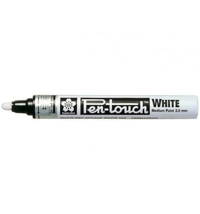 Маркер декоративный SAKURA Pen-Touch, круглый толстый стержень 2.0мм, Цвет: Белый