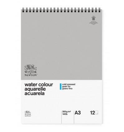 Альбом для акварели Winsor&Newton Classic (целлюлоза), А3 (29,7*42см), 300гр/м, Фин (среднее зерно), 12 листов, спираль