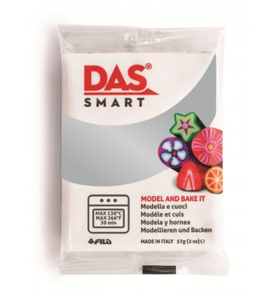 Полимерная глина (паста) для моделирования DAS SMART METALLIC 321402, 57 гр., Cеребрянная