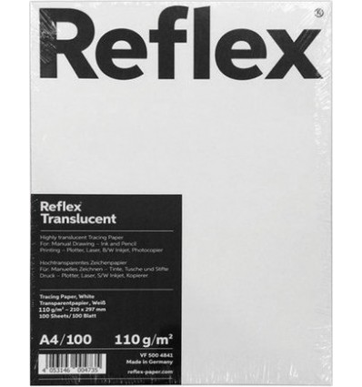 Калька REFLEX A4 (21*29.7см), 110г/м, мягкая пачка 100 листов