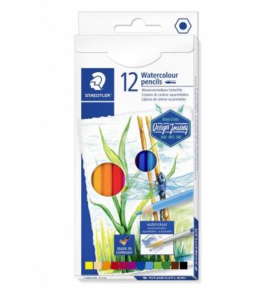 Карандаши акварельные цветные STAEDTLER Design Journey, 12 цвета, картонная коробка