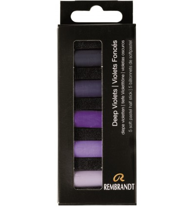 Набор сухой пастели REMBRANDT ROYAL TALENS - 5 фиолетовых насыщенных цветов, 1/2 стандартного мелка, картон