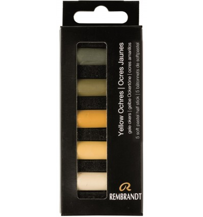 Набор сухой пастели REMBRANDT ROYAL TALENS - 5 цветов желтой охры, 1/2 стандартного мелка, картон