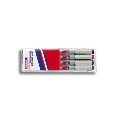 Набор маркеров для проекторных пленок EDDING 151 F, круглый наконечник, 0,6мм, 4 цвета