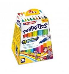 Детские фломастеры Edding 14 FUNTASTICS, 3мм, 18 цветов