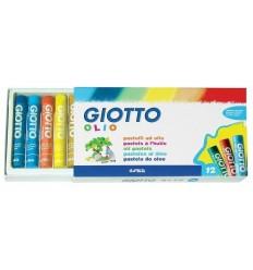 Масляная пастель GIOTTO OLIO, 12 цветов