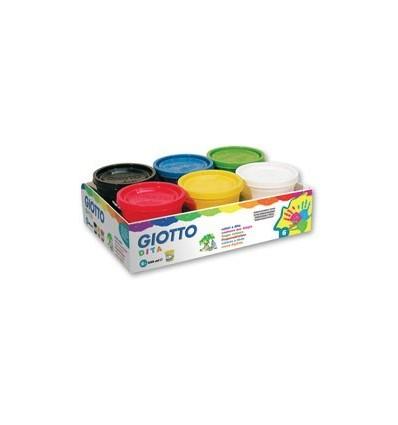 Набор пальчиковых красок GIOTTO dita, 6 цветов по 200 мл