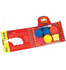 Набор красок для рисования руками GIOTTO BE-BE (3 цвета по 100 мл, 3 губки, фартук)